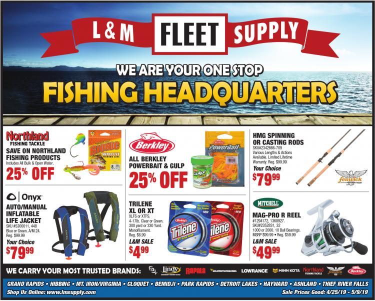 Your Ice Fishing Headquarters, L & M Fleet Supply, Detroit Lakes, MN