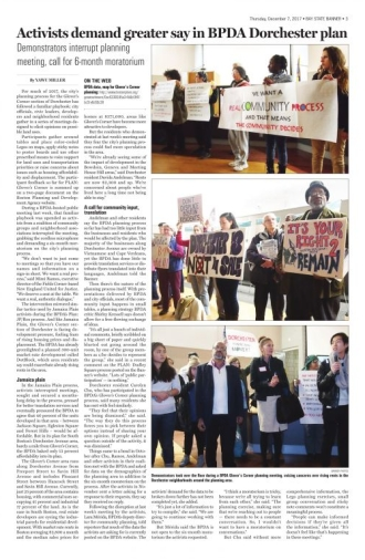 Activists demand greater say in BPDA Dorchester plan - The