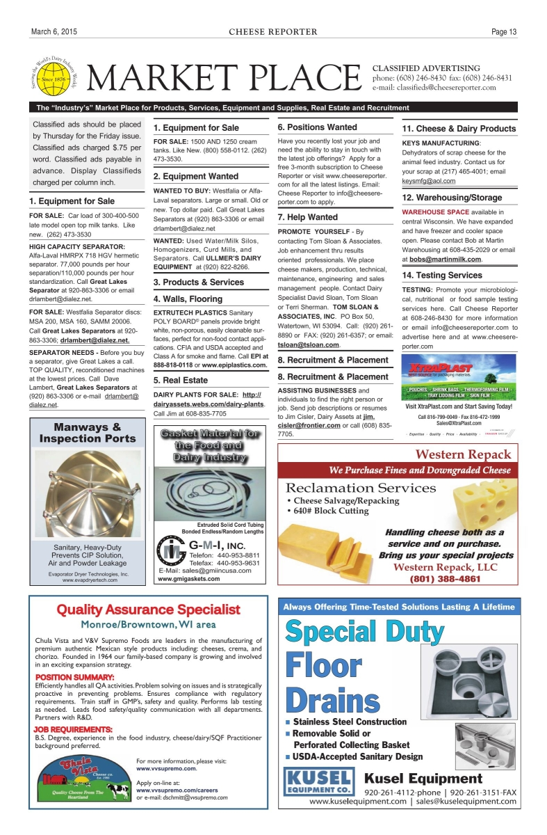Cheese Reporter, 03-06-2015 - Page 13